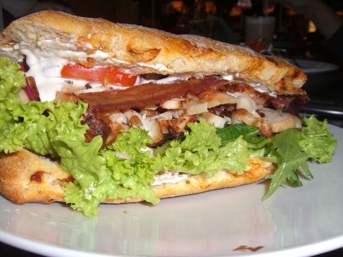 Chicken & bacon ciabatta roll
