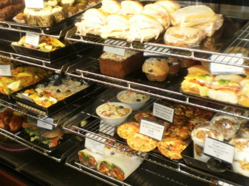 Breakfast rolls, quiches, cakes, fruit salad, beef wraps and more...
