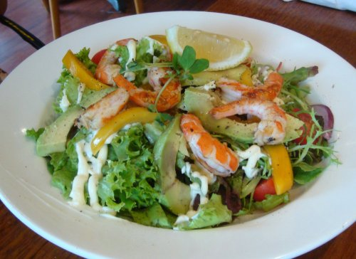 Tiger prawn, avocado and mango salad
