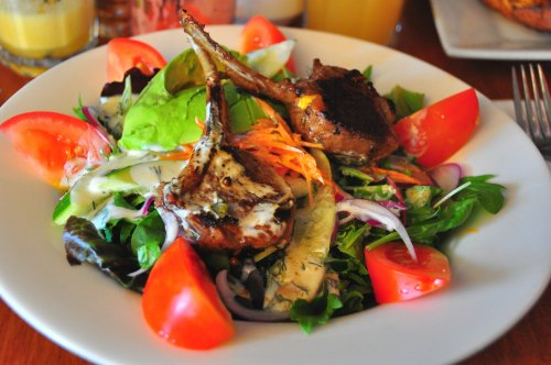Lamb Cutlet Salad
