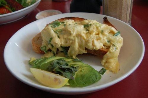 Free range eggs with toast