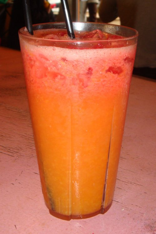 Watermelon and orange juice