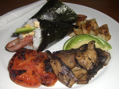 Sushi hand roll brekkie