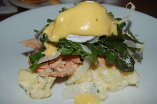 Smoked trout and kipfler potato salad