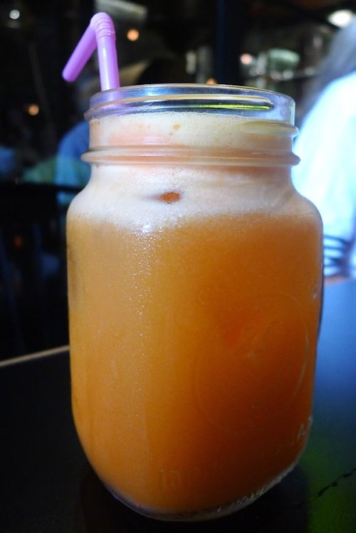 Freshly squeezed orange, carrot and ginger