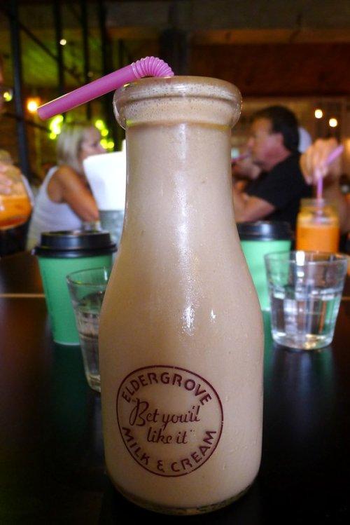The Grounds chocolate milkshake