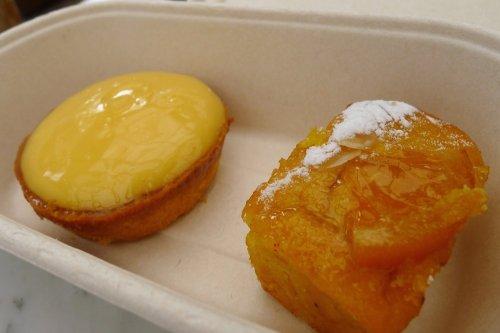 Lemon and almond & orange tarts