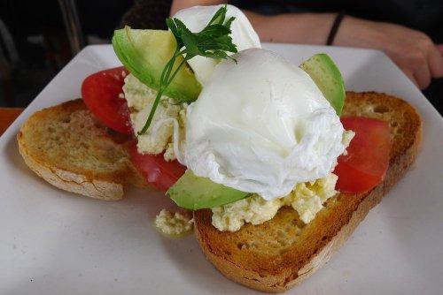 Sea Bar avocado sourdough toast