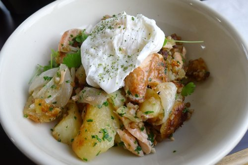 House cured salmon hash