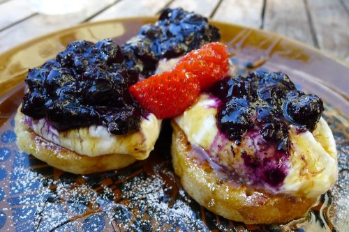 Housemade crumpets