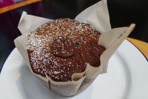 Orange and chocolate muffin