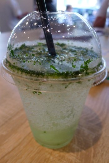 Elderflower and mint soda