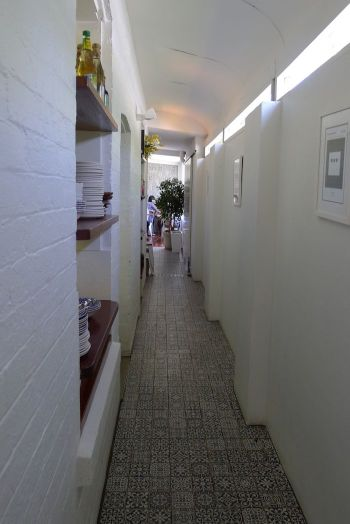 Hallway between dining rooms