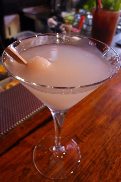 Ginger & lychee martini