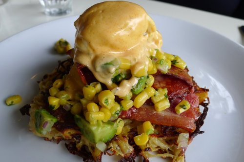 Potato cake with bacon