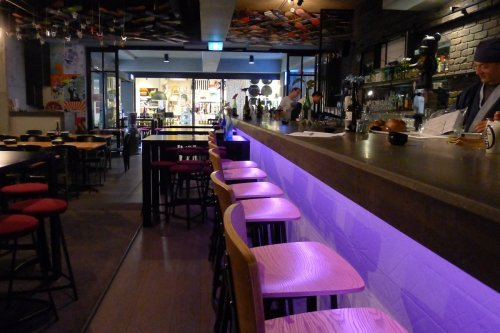 Drinks bar and sushi counter in one