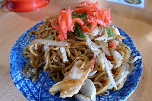 Yaki soba Japanese fried noodles