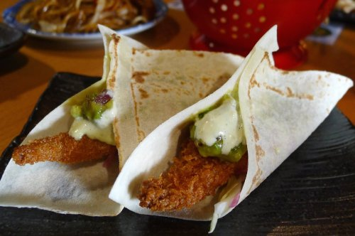 Panko whiting tacos
