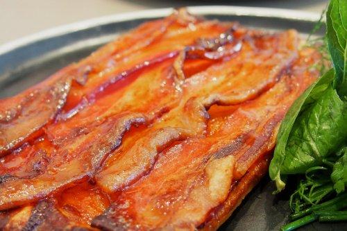 Bacon, maple, pumpkin tart