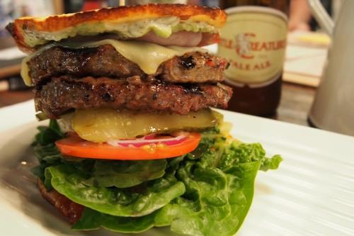 Summer Sunset burger with the SuperBun