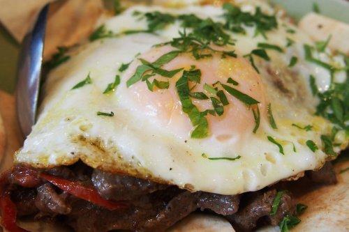 Shawarma & fried egg