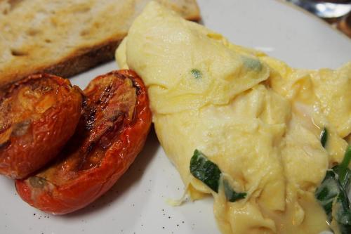 Taleggio, basil scrambled eggs