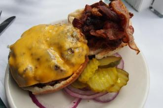 JG Melon bacon and cheese burger