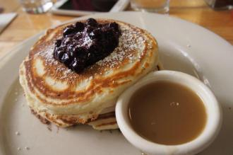 Clinton St. Baking Company, pancakes with warm maple butter