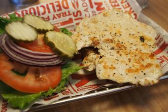 Smashburger, chicken burger