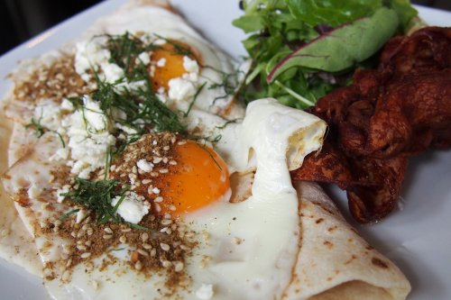 Dukkah fried eggs
