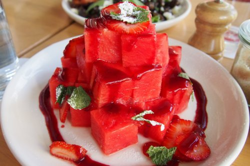 Strawberry and watermelon salad