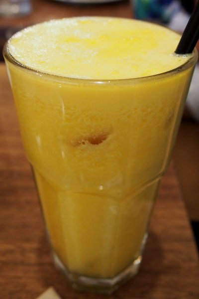 Orange, pineapple and passionfruit juice