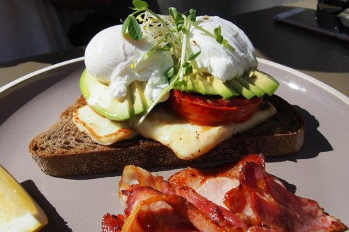 Truffled poached eggs