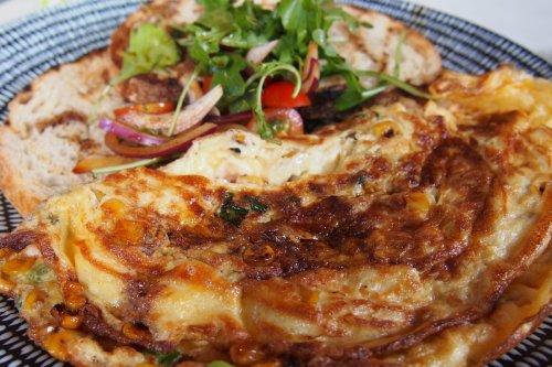 Alaskan crab omelette