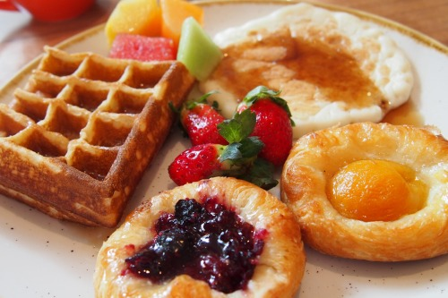 Waffle, pancake and pastries