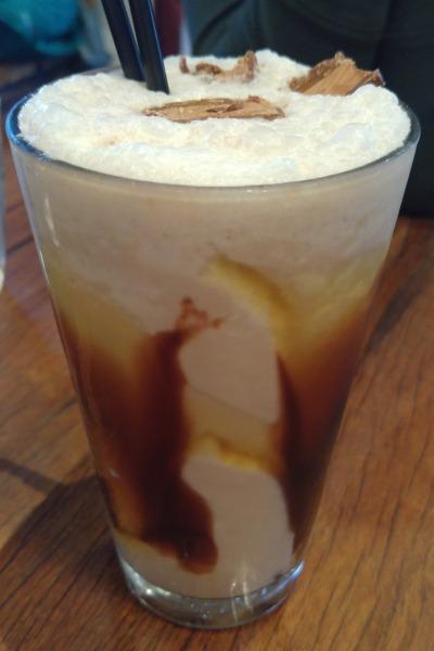 Mars Bar malt milkshake