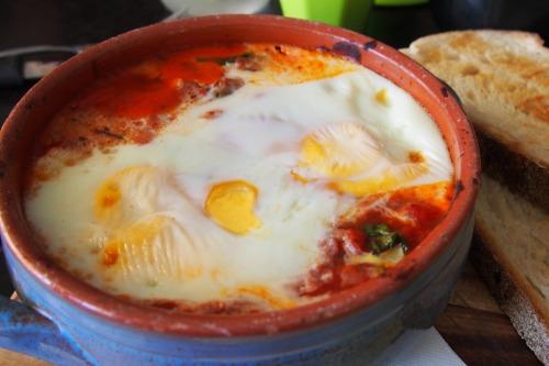 Sicilian baked eggs