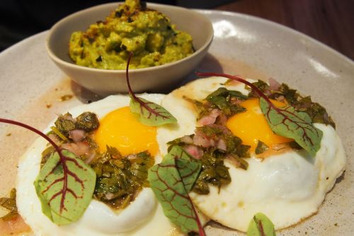 Fried eggs with chimmi churri